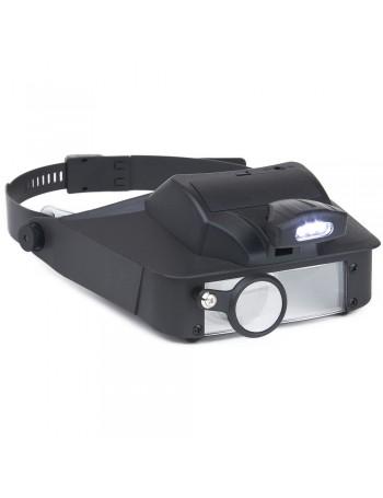 Viseira Carson LumiVisor LV-10 com lentes de ampliação e LED