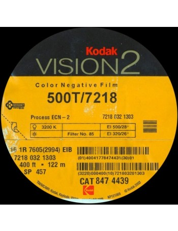 Filme fotográfico 35mm Kodak Vision2 500T/5218 ISO 200 Colorido 36 poses (VENCIDO EM 2006)