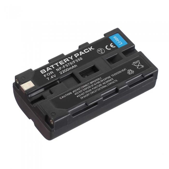 Bateria recarregável Greika NP-F570/F550 2200mAh para iluminadores de LED e filmadoras Sony