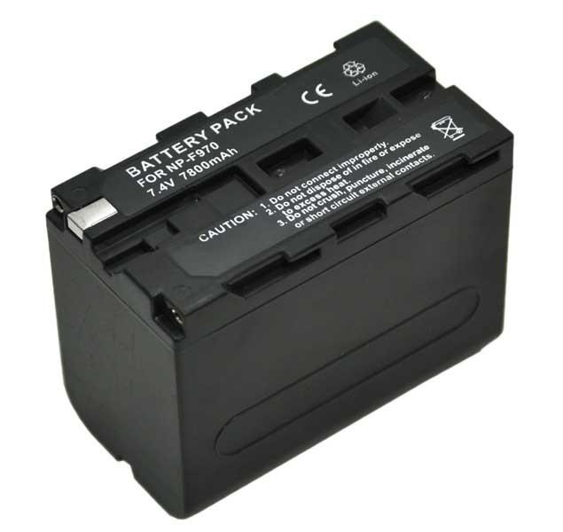 Bateria recarregável Greika NP-F970 7200mAh para iluminadores de LED e filmadoras Sony