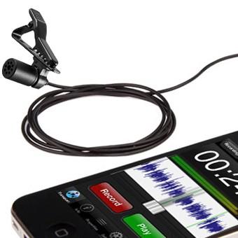 Microfone de lapela Boya BY-M1 para câmeras, smartphones, computadores e gravadores de áudio