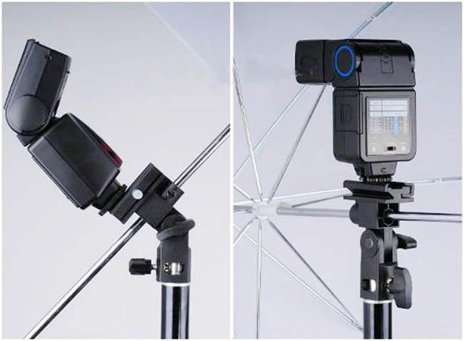Suporte para tripé de iluminação para sombrinha e flash speedlite