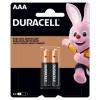Pilha alcalina Duracell AAA - cartela com 2 unidades